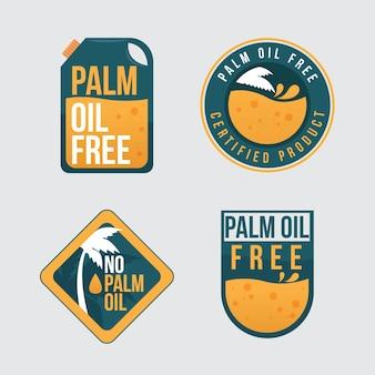 Pack di badge olio di palma piatto