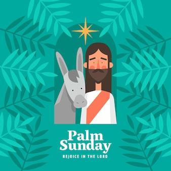 Evento della domenica delle palme piatte