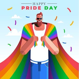 Illustrazione del giorno dell'orgoglio piatto