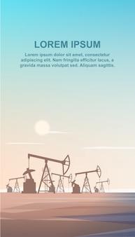 Olio per trivellazioni di produzione piatto dalla terra di profondità