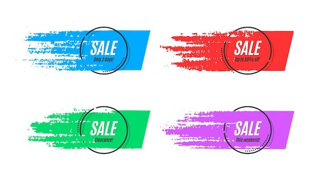 Banner originale di promozione piatta, sfondo di vendita, cartellino del prezzo. illustrazione vettoriale