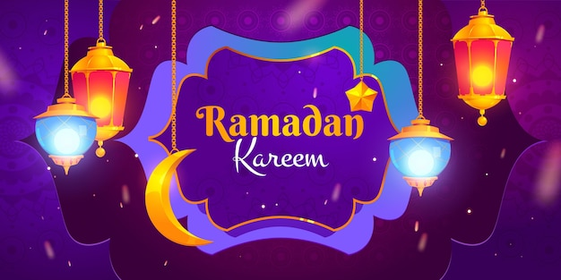 Illustrazione di ramadan piatto
