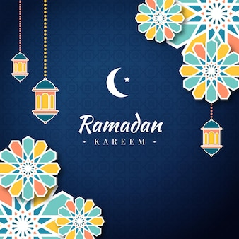 Illustrazione di ramadan kareem piatto