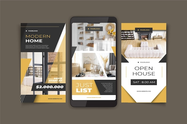 Storie di instagram immobiliari piatte