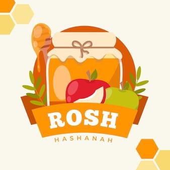 Concetto di rosh hashanah piatto