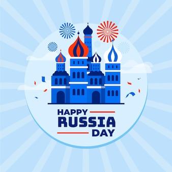 Illustrazione piana di giorno della russia