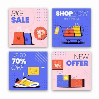 Collezione di post instagram vendita piatta sale