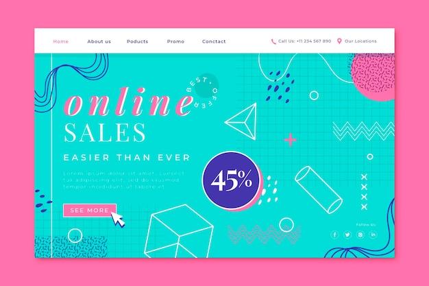 Modello di pagina di destinazione di vendita piatta