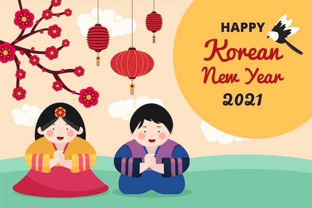 Capodanno coreano piatto seollal