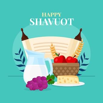 Illustrazione di shavout piatto