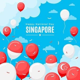 Illustrazione piatta della giornata nazionale di singapore