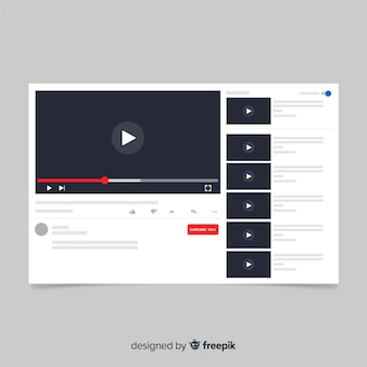 Modello di lettore multimediale multimediale piatta
