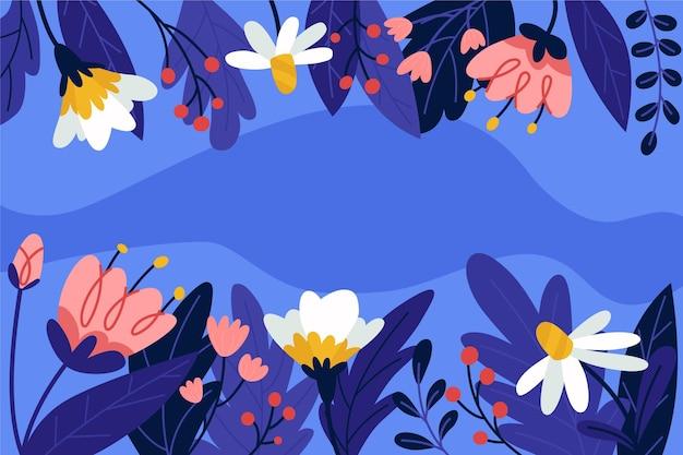 Sfondo primavera piatta