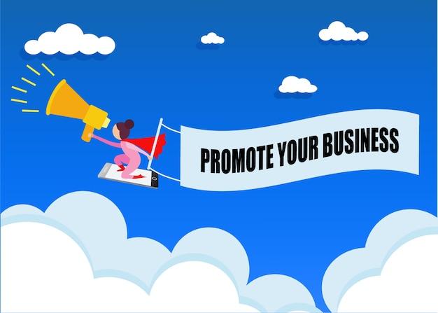 Icone di pubblicità mobile stile piatto. concetto di business acquisti online