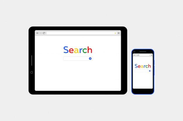 Browser di ricerca vettoriale stile piano