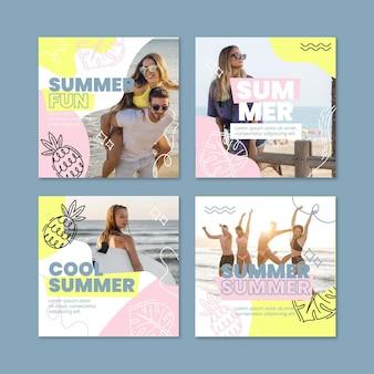 Raccolta di post instagram piatto estivo con foto