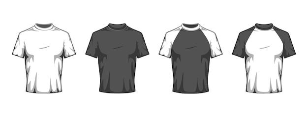 Set di magliette piatte