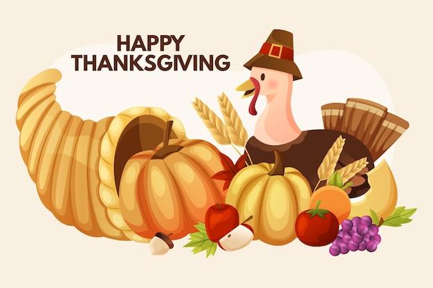Sfondo piatto del ringraziamento