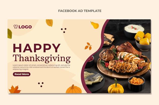 Modello promozionale per social media di ringraziamento piatto