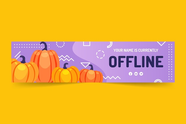 Banner di contrazione piatta del ringraziamento