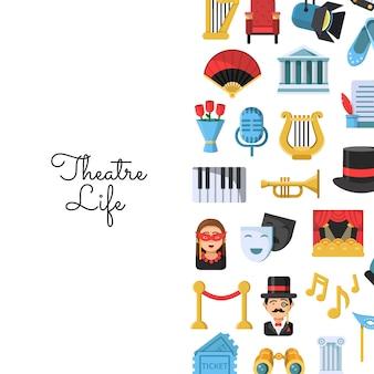 Icone del teatro piatto