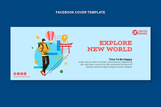 Copertina facebook piatta da viaggio