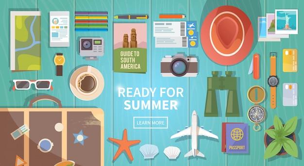 Banner web viaggio piatto