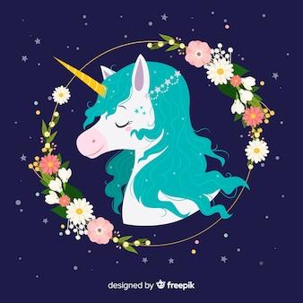 Sfondo piatto unicorno