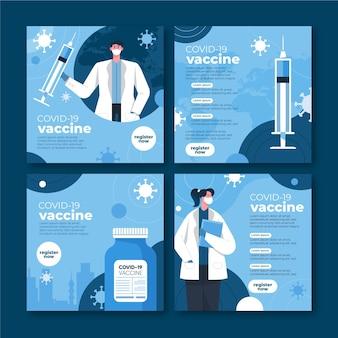 Raccolta di post instagram vaccino piatto