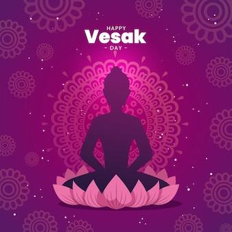 Illustrazione di giorno vesak piatto