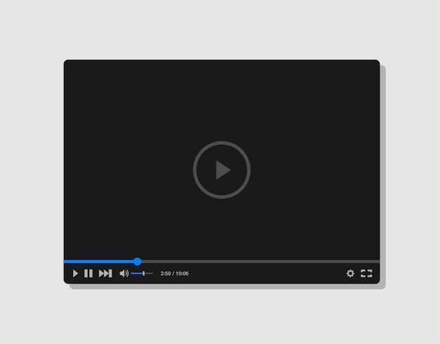 Modello di lettore video piatto per app web