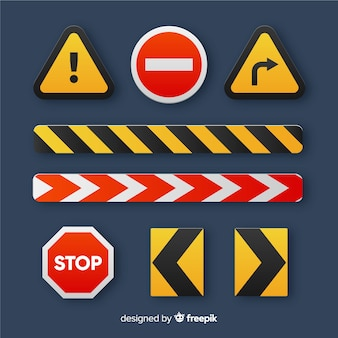 Fondo piano del segno della costruzione di avvertimento