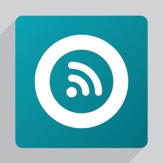 Icona wifi piatta, bianca su sfondo verde