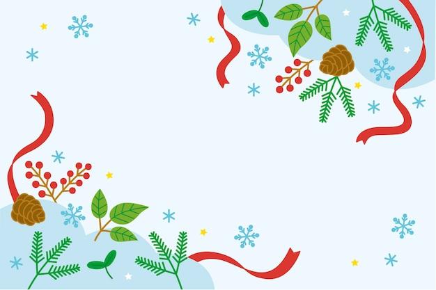 Sfondo invernale piatto