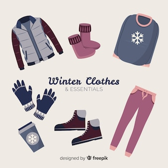 Vestiti invernali essenziali ed essenziali