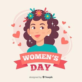 Piatto giorno delle donne sfondo