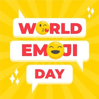 Illustrazione di giornata mondiale emoji piatta