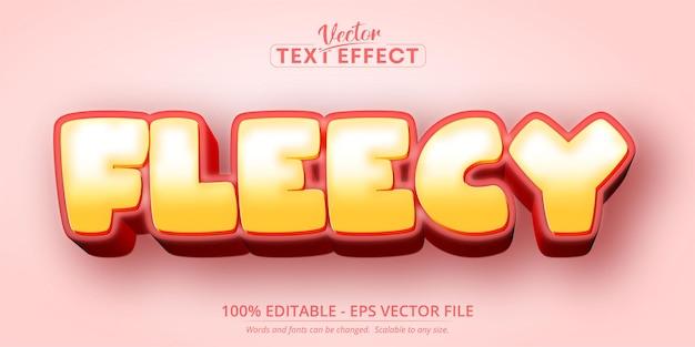 Testo morbido, effetto di testo modificabile in stile cartone animato