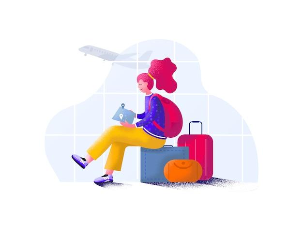 Ritardo del volo. i ritardi negli aeroporti sono così noiosi.
