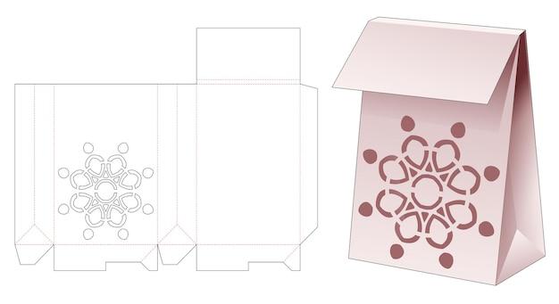 Flip bag con modello fustellato di mandala stencil