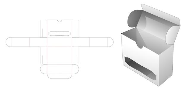 Flip box con modello fustellato per finestra di lusso