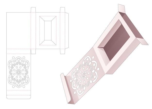 Flip box con modello fustellato mandala stampato