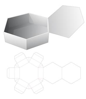 Capovolgere il modello fustellato scatola esagonale