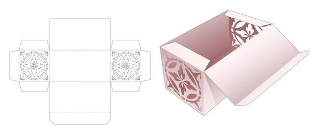 Capovolgere e bloccare la scatola con il modello fustellato di stencil di linea