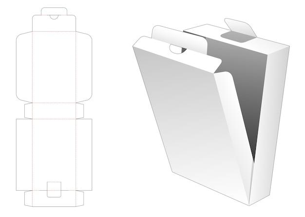 Modello fustellato di scatola di imballaggio flip