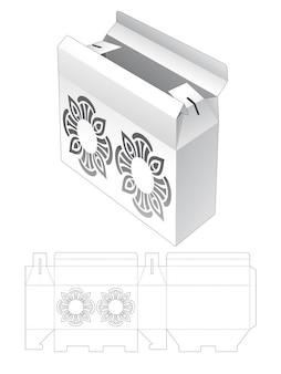 Confezione ribaltabile con modello fustellato con motivo mandala stampato