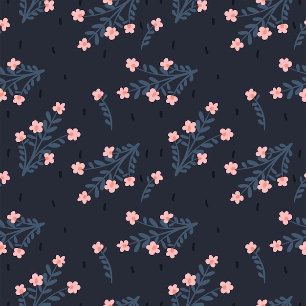 Motivo floreale astratto senza soluzione di continuità. sfondo per carta, copertina, tessuto, tessuto. fiori rosa.