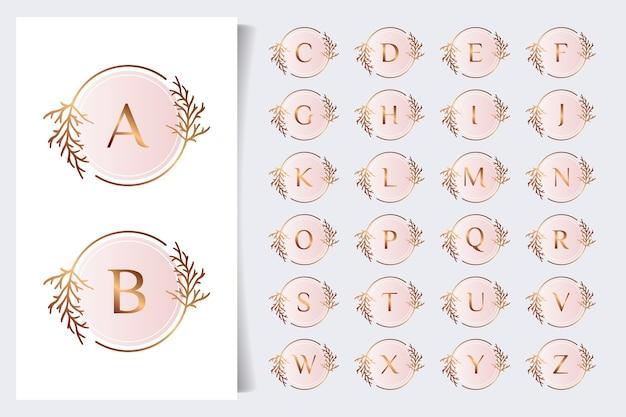 Collezione di alfabeto floreale