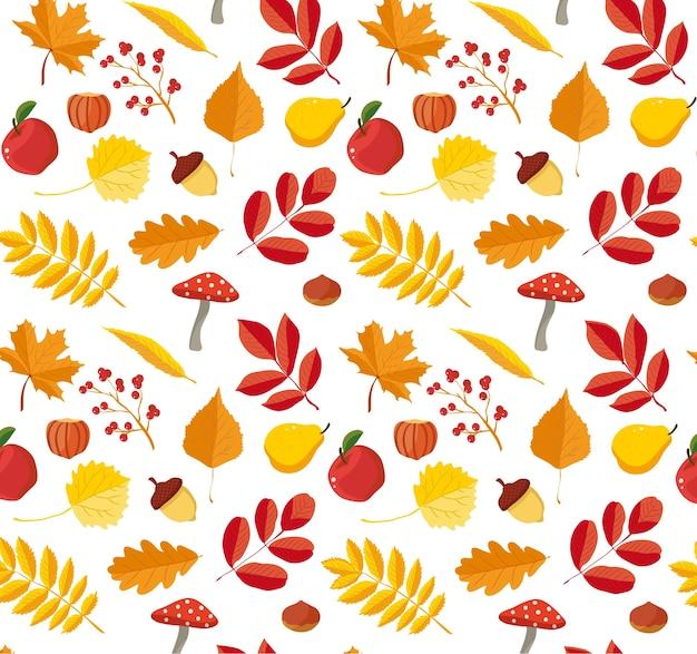 Modello di autunno floreale