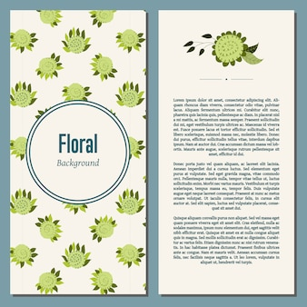 Sfondo floreale con testo